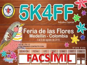 FACSIMIL QSL 5K4FF