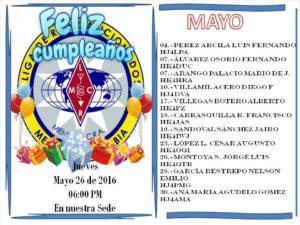 CUMPLEAÑOS SOCIOS 26 DE MAYO